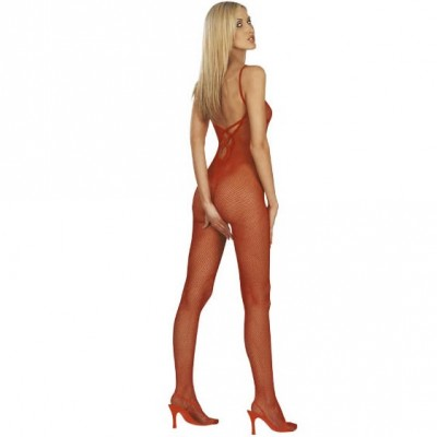 Red Fishnet Catsuit