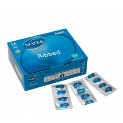Mates Ribbed Extra Safe Condoms 6 Pack